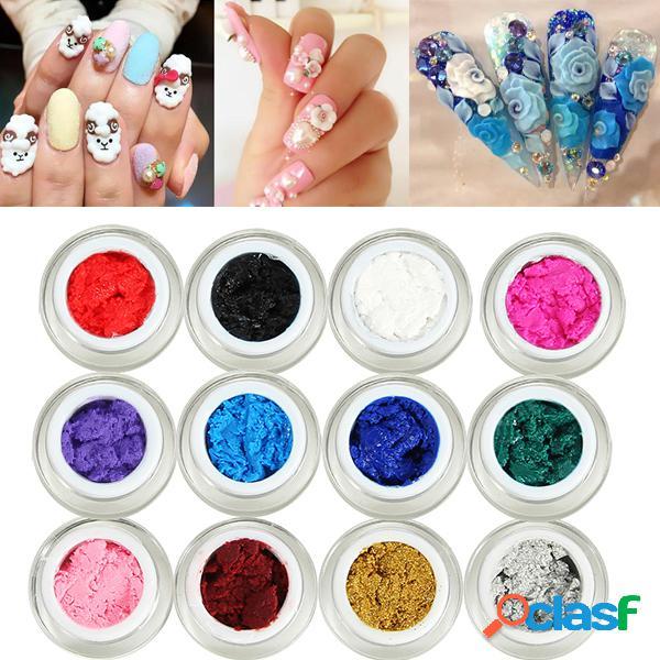 Scultura 3d di 1pc che intaglia il disegno uv del manicure di arte del chiodo del gel uv diy 12 colori