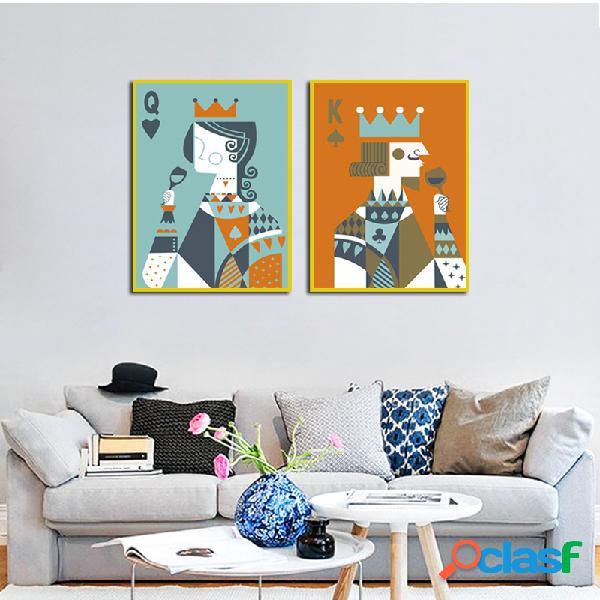Miico dipinti a mano combinazione di dipinti decorativi arte della parete pittura re e regina per la decorazione domestica