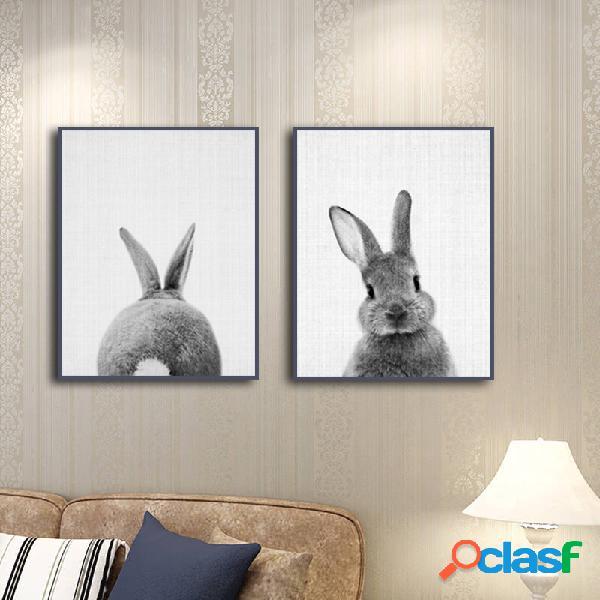 Combinazione dipinta a mano dipinti decorativi dipinti conigli animali decorazioni per la casa arte per la casa