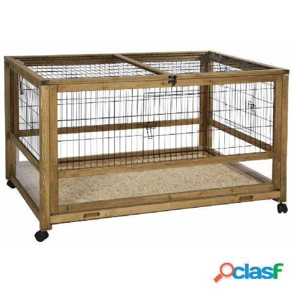 Kerbl gabbia per piccoli animali uso interno 116x75x70cm legno marrone