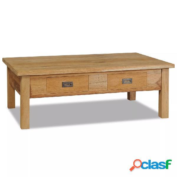 Vidaxl tavolino in legno massello di teak 100x60x35 cm