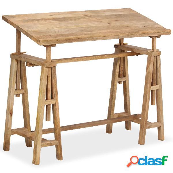 Vidaxl tavolo da disegno in legno massello di mango 116x50x76cm