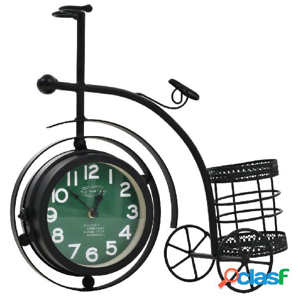 Vidaxl orologio bifacciale a parete a forma di triciclo vintage