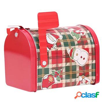 Holiday-themed mailbox candy storage box - christmas