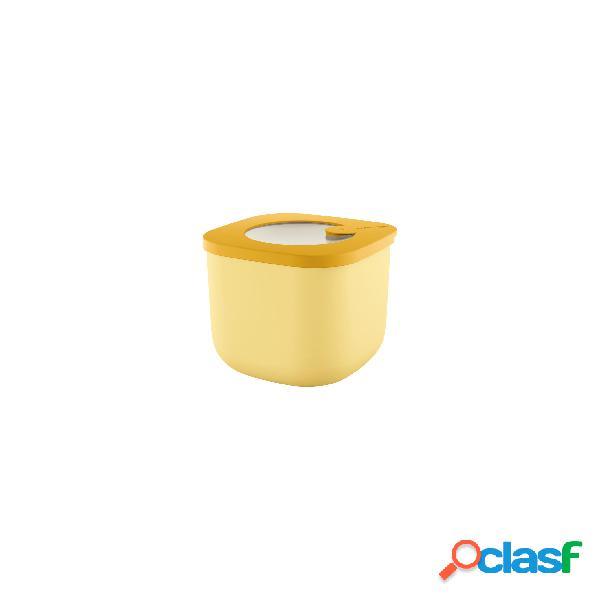 Contenitore ermetico in polipropilente alto piccolo 12,2x12,2xh9,8 cm - 750 cc frigo, freezer, microonde colore giallo ocra