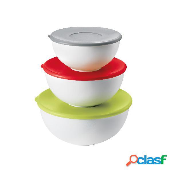 Contenitori set 3 pezzi con coperchio utilizzabili in microonde e frigo
