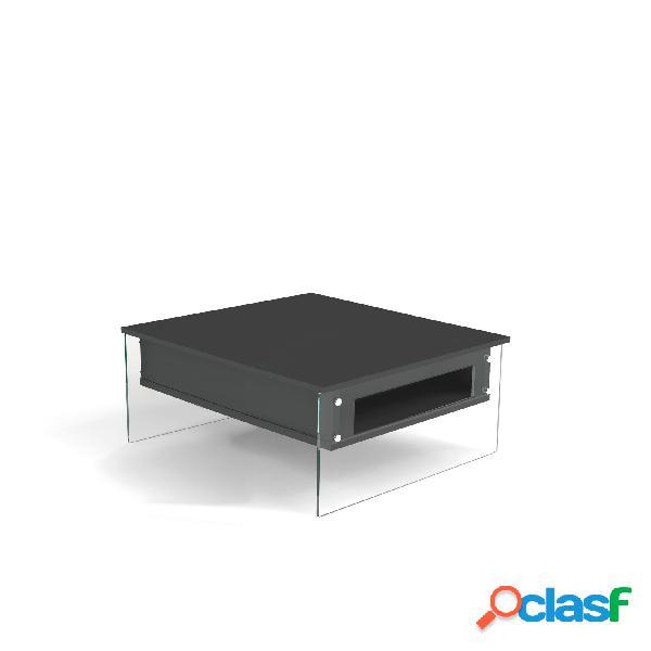 Tavolino quadrato multifunzione con piano alzabile london si alza il top di 25 cm e lo sposta in avanti di 35 cm