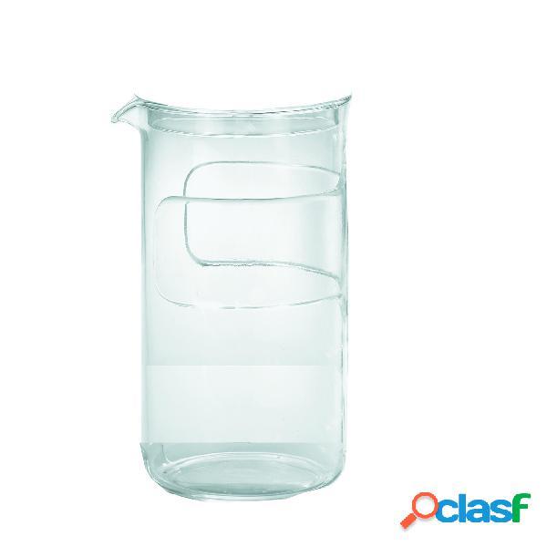 Vetro di ricambio per multishaker 3 tazze guzzini 13 x 8,5 x h17,5 cm - 350 cc in vetro guzzini