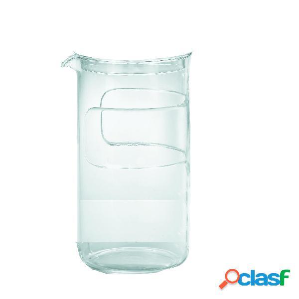 Vetro di ricambio per multishaker 8 tazze guzzini 16 x 10,5 x h22,5 cm - 1000 cc in vetro guzzini