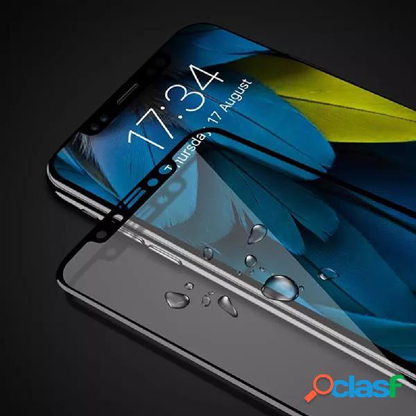 Proteggi schermo 3d fibra di carbonio e vetro temperato per iphone x