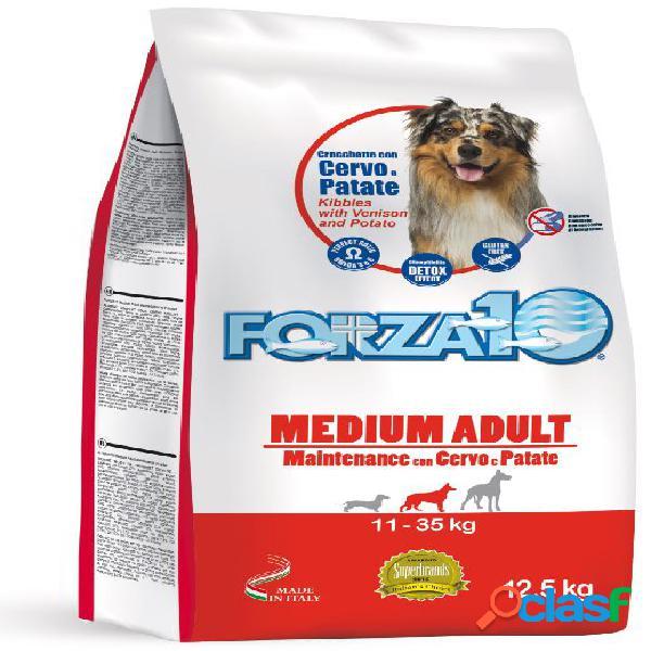 Forza10 cane medio adulto mantenimento cervo patate 12,5 kg