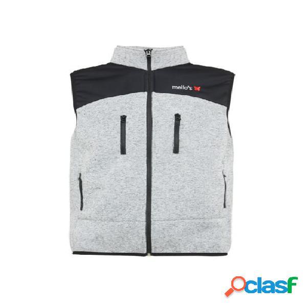 4t thermal fleece vest - white,s-en