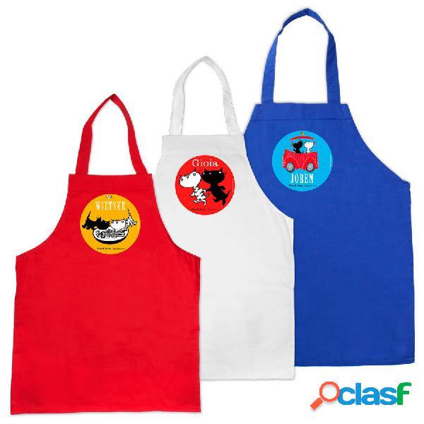 Pim & pom - grembiule per bambini - rosso