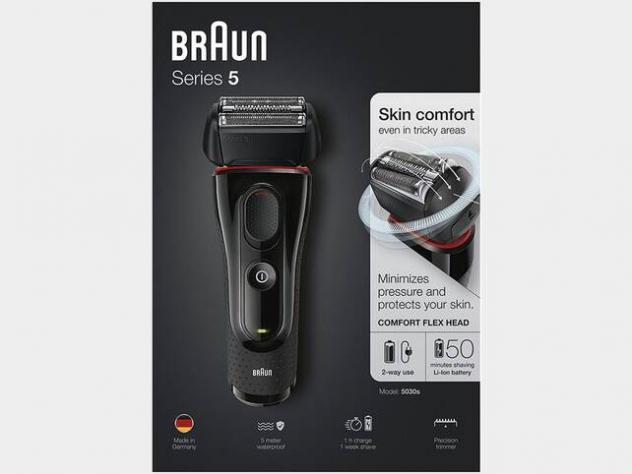 Braun series 5 5030s rasoio elettrico ricaricabile