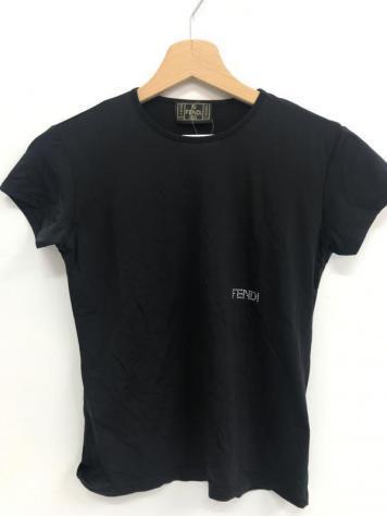 T shirt donna fendi nero