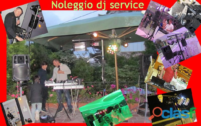 dJ,Pianobar, impianto audio e luci tutto per la tua festa