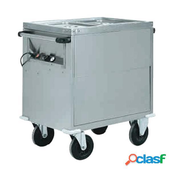 Carrello termico armadiato bagnomaria per 2 bacinelle gn1/1 - l 960 mm x p 680 mm x h 920 mm
