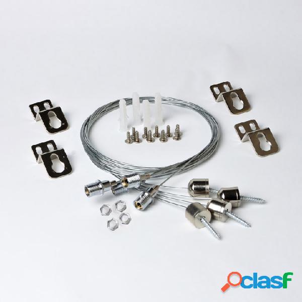 Kit di fissaggio a sospensione per pannelli a led