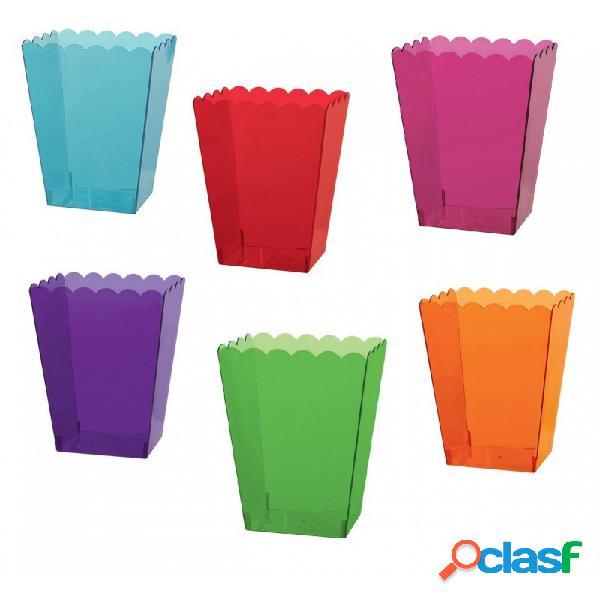 Contenitore plastica quadrato 2 pz. porta confetti