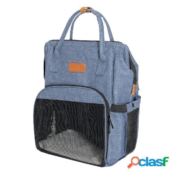 Camon borsa zainetto per piccoli animali blu