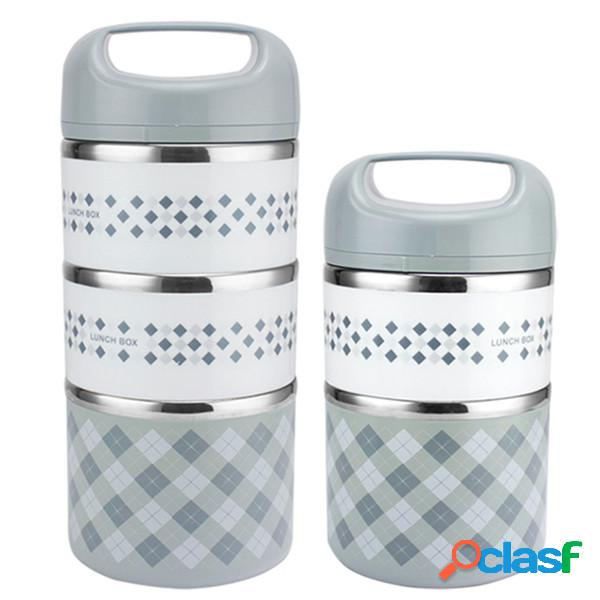 Kcasb kc-bch07 2 strati insalata portatile insalata pranzo in acciaio inox bento contenitore termico