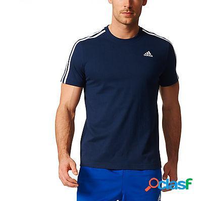 Adidas t-shirt uomo navy essentials 3 stripes tee - b47359 blu