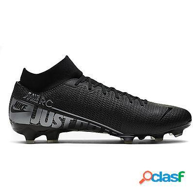 Nike scarpe calcio superfly 7 academy fg/mg uomo black/mtlc cool grey-cool grey