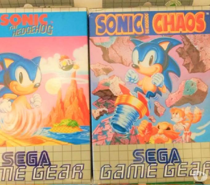 4 giochi sega game gear nuovi magazzino perfetti sonic