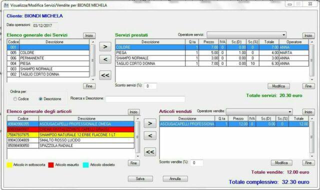 Programma software gestionale parrucchiere e centro estetico