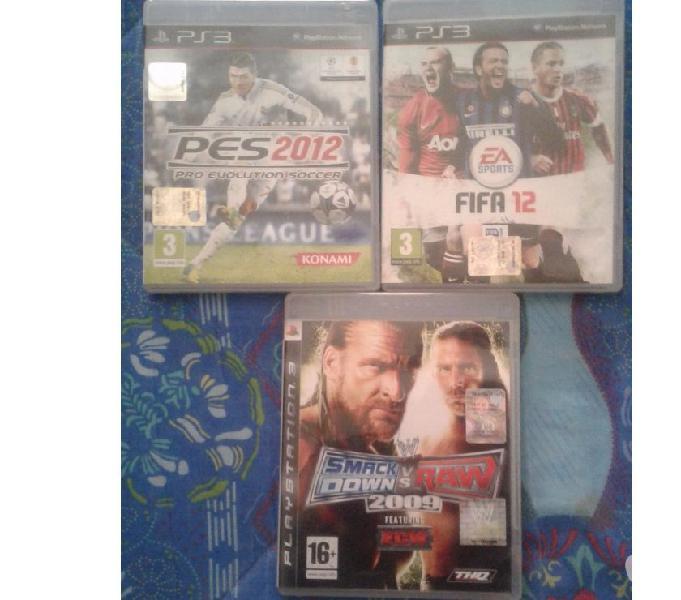 Vendo 3 giochi originali per la playstation 3