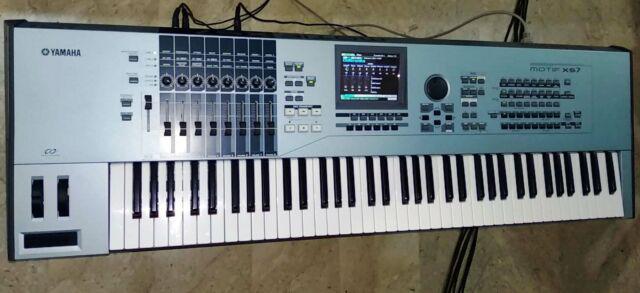 Yamaha motif xs7, ram 1 gb, custodia, accessori, 13 librerie