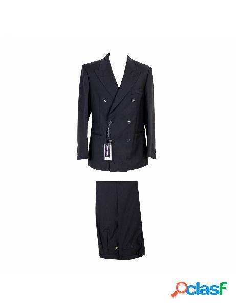 Cacharel abito vintage completo giacca doppiopetto pantalone elegante lana grigio