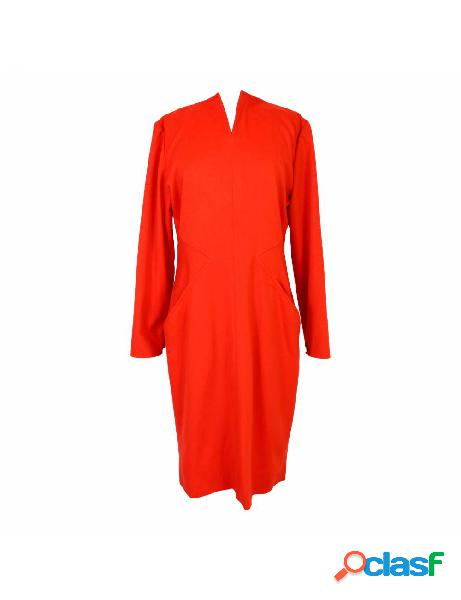 Vestito vintage anni 70 dani lungo cocktail lana rosso