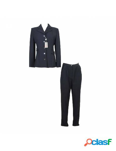 Valentino abito vintage completo pantalone giacca lana nero