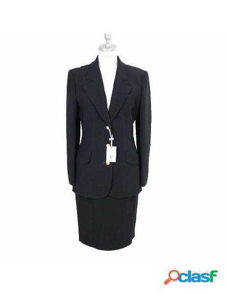Valentino vestito vintage completo giacca gonna nero