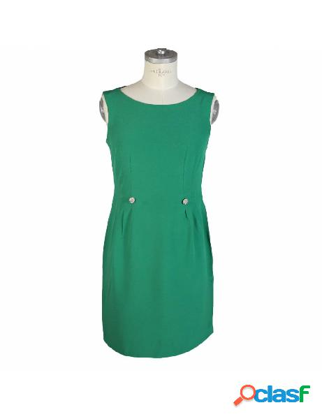 Vestito vintage sartoriale anni 80 verde smeraldo corto cocktail party