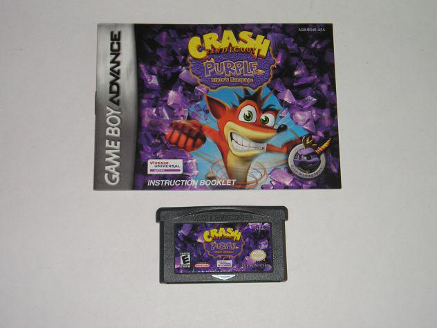 Gioco game boy advance - crash bandicoot purple ripto's