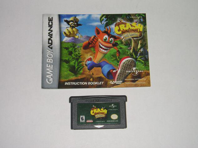 Gioco game boy advance - crash bandicoot the huge adventure