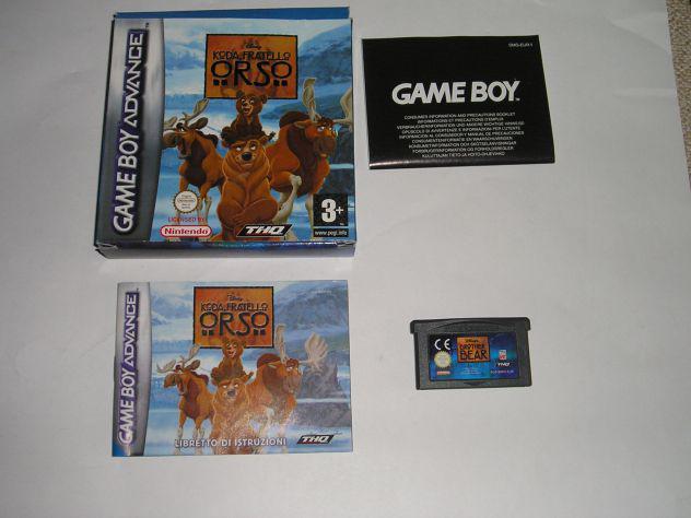 Gioco game boy advance - koda fratello orso