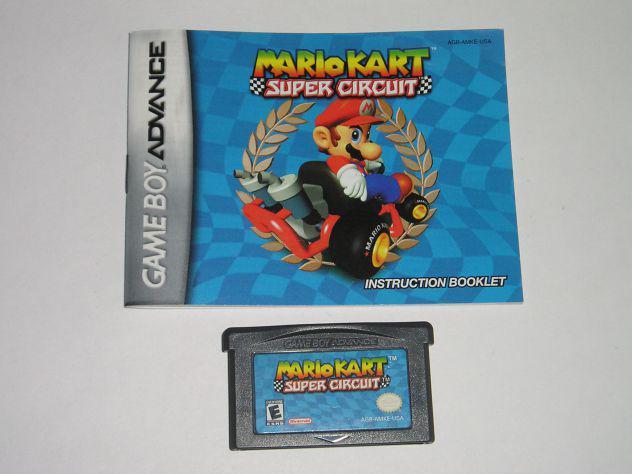 Gioco game boy advance - mario kart super circuit
