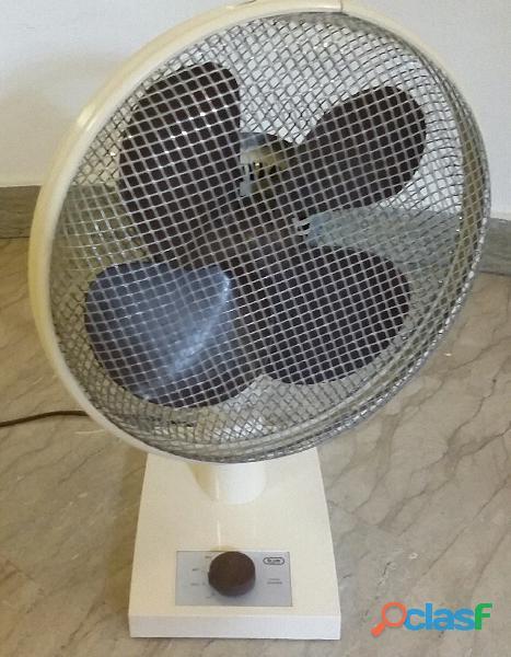 Ventilatore da tavolo style modernariato vintage marca bjm juno funziona/ beige come nuovo