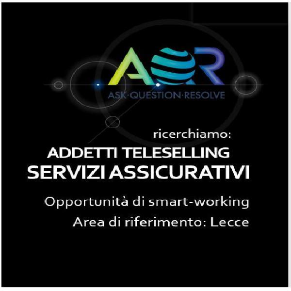 Addetti teleselling servizi assicurativi smart working