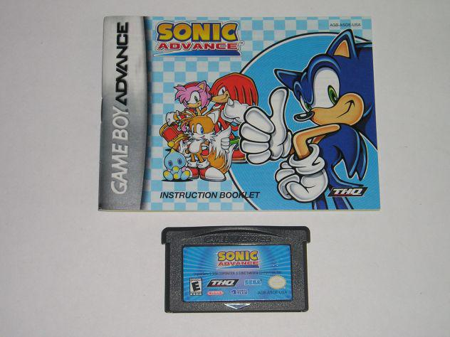 Gioco game boy advance - sonic advance