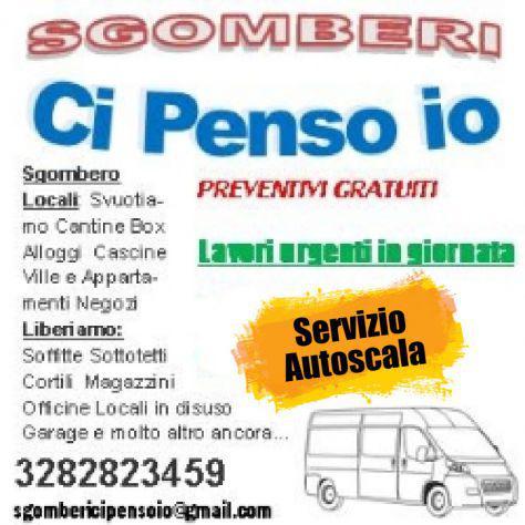 Sgombero case negozi officine box auto cantine