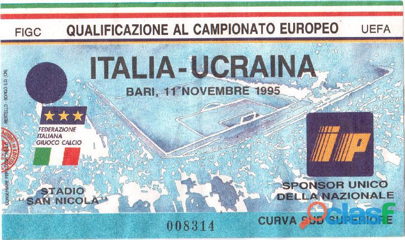 """Biglietto """"ITALIA   UCRAINA"""" calcio"""