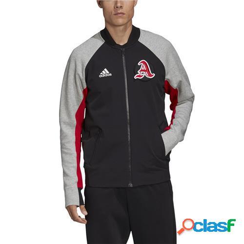 Adidas giacca vrct uomo black/mgreyh/scarle
