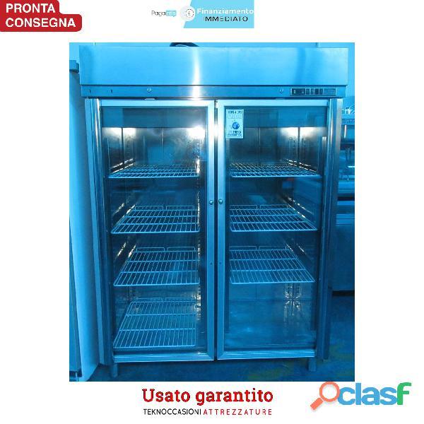 Armadio frigorifero 2 sportelli a vetro temperatura +2/+8C°