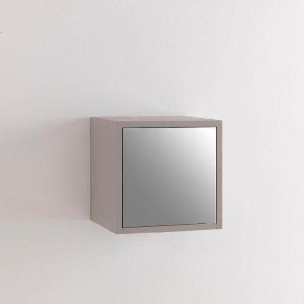Pensile da soggiorno 1 anta 34x27x34 cm specchio tft marte