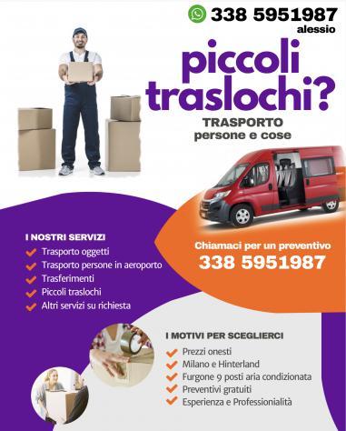 TRASPORTO PERSONE AEROPORTO / STAZIONI - PICCOLI TRASLOCHI
