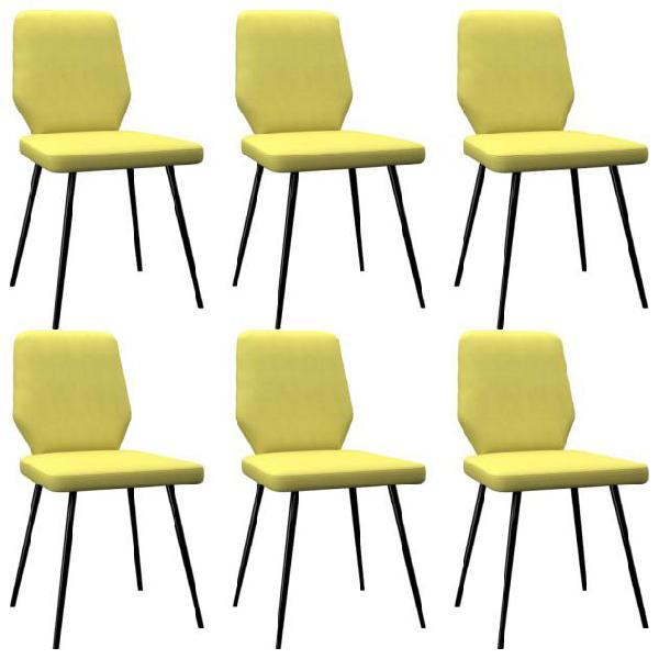 Vidaxl sedie da pranzo 6 pz lime giallo in tessuto